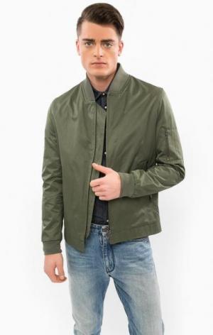Легкая куртка цвета хаки на молнии DRYKORN. Цвет: хаки