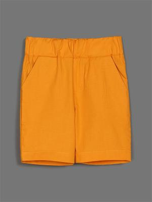 Шорты ЕМАЕ. Цвет: оранжевый