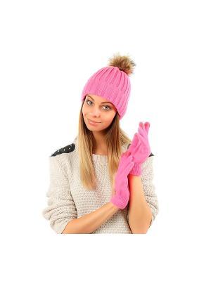 Перчатки GREZZO. Цвет: розовый