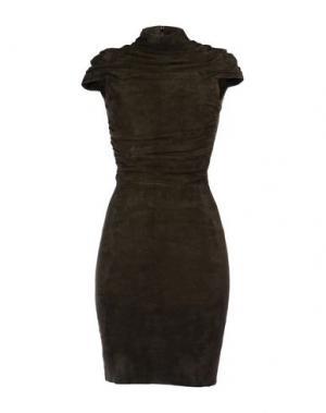 Короткое платье JITROIS. Цвет: темно-зеленый