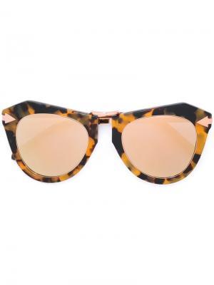 Солнцезащитные очки One Orbit Karen Walker Eyewear. Цвет: телесный