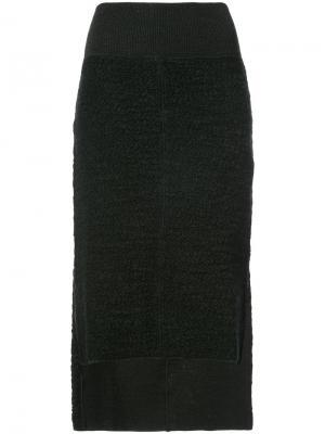 Асимметричная юбка Nude. Цвет: чёрный