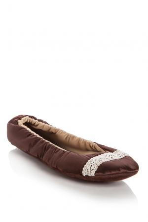 Домашние тапочки 133024 Petit Pas. Цвет: коричневый