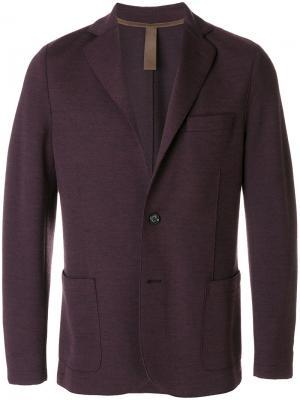 Однобортный пиджак Eleventy. Цвет: розовый и фиолетовый