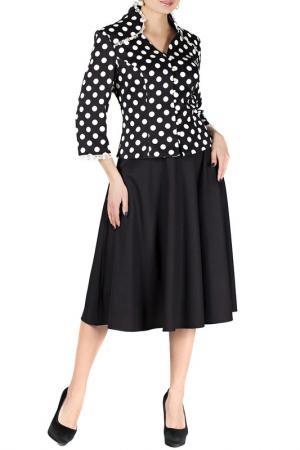 Комплект с юбкой Mannon. Цвет: черно-молочный