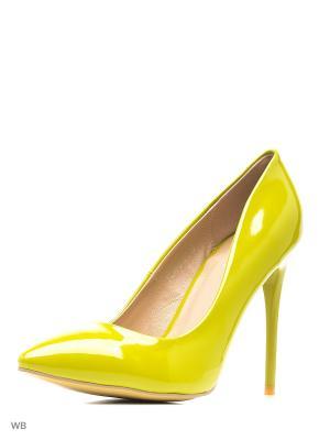 Туфли Winzor. Цвет: зеленый, светло-желтый