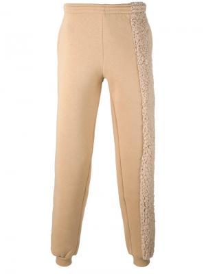 Спортивные брюки с контрастной панелью Cottweiler. Цвет: телесный