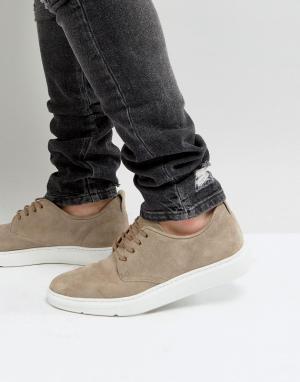 ASOS Серые замшевые туфли дерби на шнуровке. Цвет: серый