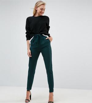 ASOS Tall Тканые брюки галифе с поясом оби. Цвет: зеленый