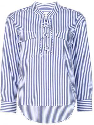 Рубашка в полоску Veronica Beard. Цвет: синий
