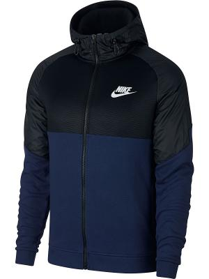 Толстовка M NSW AV15 HOODIE FZ SSNL Nike. Цвет: синий, черный
