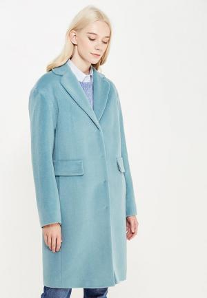 Пальто pompa. Цвет: бирюзовый