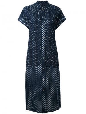 Платье с узором в горох Zucca. Цвет: синий
