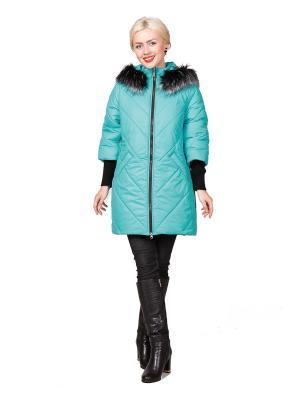 Пальто ROSSO-STYLE. Цвет: бирюзовый