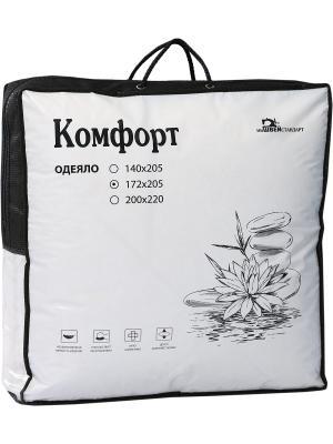 Одеяло Комфорт ИвШвейСтандарт. Цвет: белый, черный