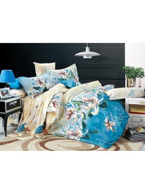 Постельное белье Taina 1,5 сп. Amore Mio. Цвет: синий, бежевый, голубой