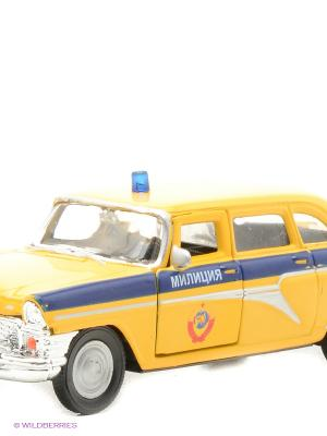 Машина ГАЗ-13 Чайка милиция СССР AUTOTIME. Цвет: желтый