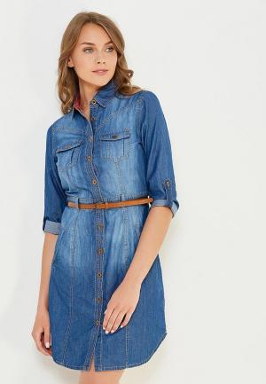 Платье джинсовое Modis. Цвет: синий