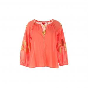 Блузка с длинными рукавами RENE DERHY. Цвет: коралловый
