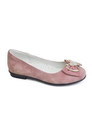 Туфли King Boots. Цвет: розовый
