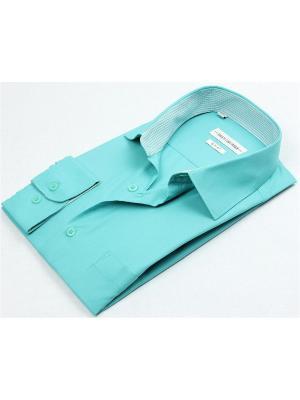 Рубашка Hans Grubber. Цвет: бирюзовый