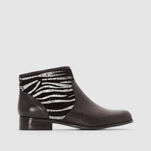 Ботинки кожаные Alicette MELLOW YELLOW. Цвет: черный