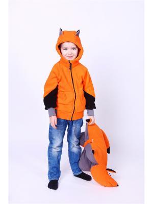 Толстовка Ушки ЛисФлис. Цвет: оранжевый