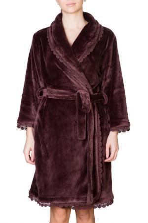 Халат Rose&Petal Homewear. Цвет: красновато-коричневый