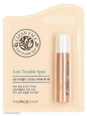 Антибактериальный карандаш для проблемных участков CLEAN FACE,10мл The Face Shop. Цвет: прозрачный