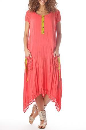 Платье ZEDD. Цвет: красный