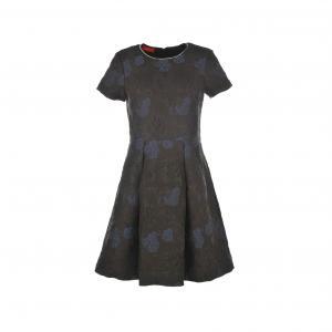 Платье-купол Samovar, с жаккардовым цветочным рисунком RENE DERHY. Цвет: черный
