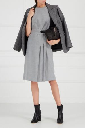 Платье со складками Adolfo Dominguez. Цвет: серый