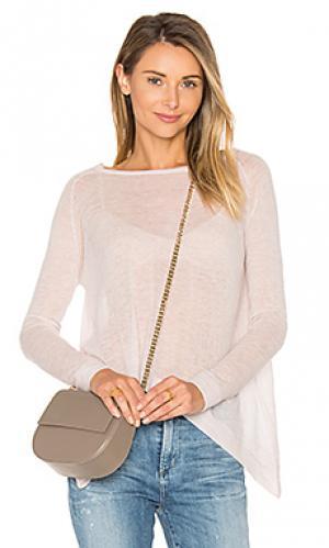 Прозрачный свитер с овальным вырезом Autumn Cashmere. Цвет: розовый