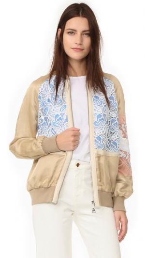 Спортивная куртка No. 21. Цвет: бежевый