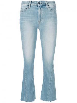 Укороченные джинсы стиля буткат Paige. Цвет: синий