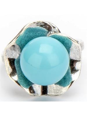 Кольцо Аскон Колечки. Цвет: голубой