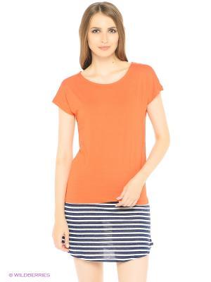 Футболка Flo&Jo. Цвет: оранжевый