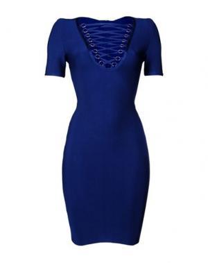 Короткое платье ELLA LUNA. Цвет: темно-синий