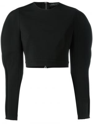 Блузка с разрезами на рукавах David Koma. Цвет: чёрный