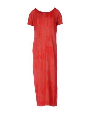 Платье длиной 3/4 BRAND UNIQUE. Цвет: красный