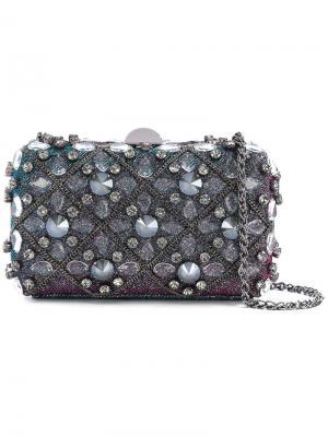 Клатч с украшением из кристаллов Rodo. Цвет: многоцветный
