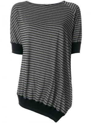 Асимметричная футболка  IM Isola Marras I'M. Цвет: чёрный