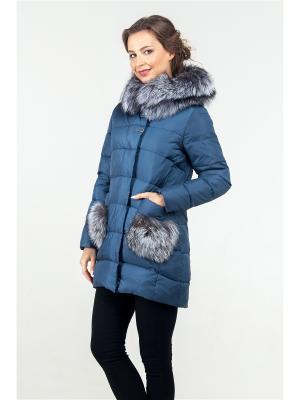 Пальто FREYA. Цвет: лазурный