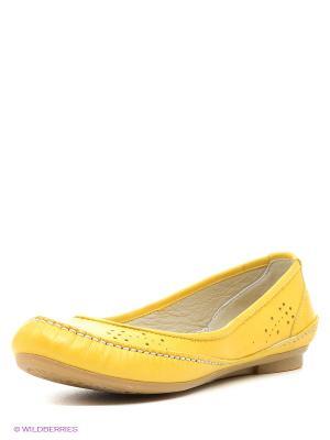 Балетки Winzor. Цвет: желтый