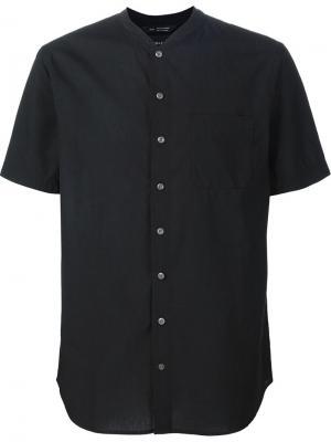 Рубашка с короткими рукавами Wings+Horns. Цвет: чёрный