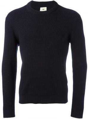 Вязаный свитер Folk. Цвет: синий