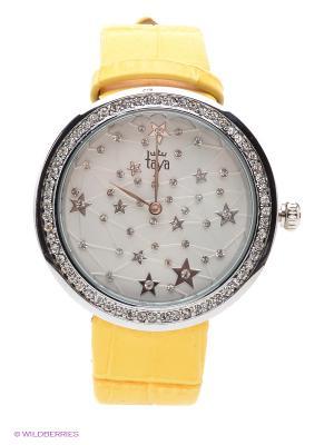 Часы Taya. Цвет: серебристый, желтый