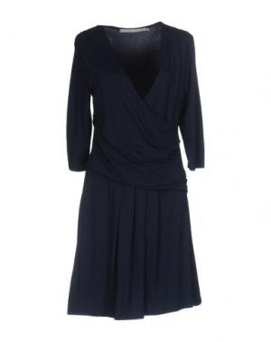 Короткое платье LA FEE MARABOUTEE. Цвет: темно-синий