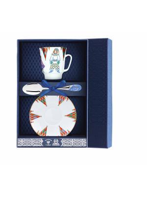 Набор чайный Майская - Балет Петрушка 3 предмета + футляр АргентА. Цвет: серебристый
