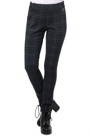 Зауженные брюки в клеточку Helmidge. Цвет: черный